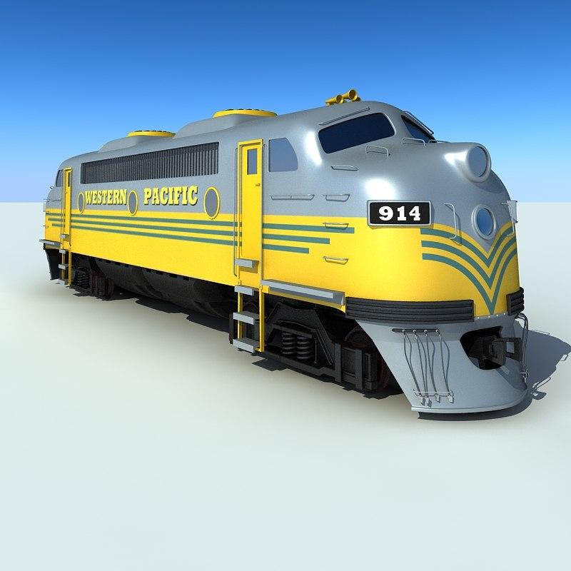 3d diesel locomotive model