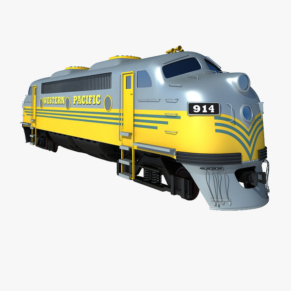 3d diesel locomotive model
