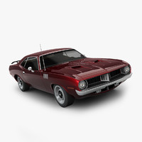 plymouth barracuda 1972 3d max