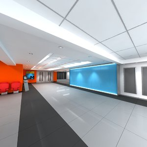 3dsmax auditorium entry hall