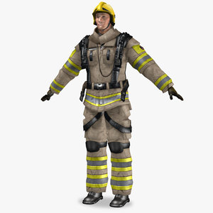 3d model firefighter simulation