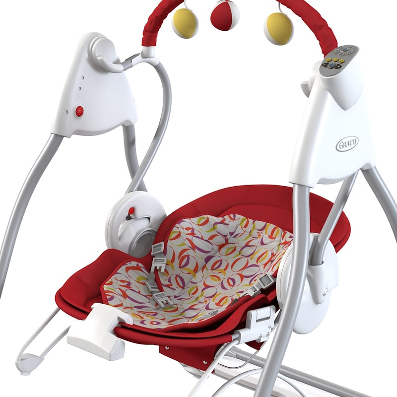 baby swing bouncer 3d 3ds