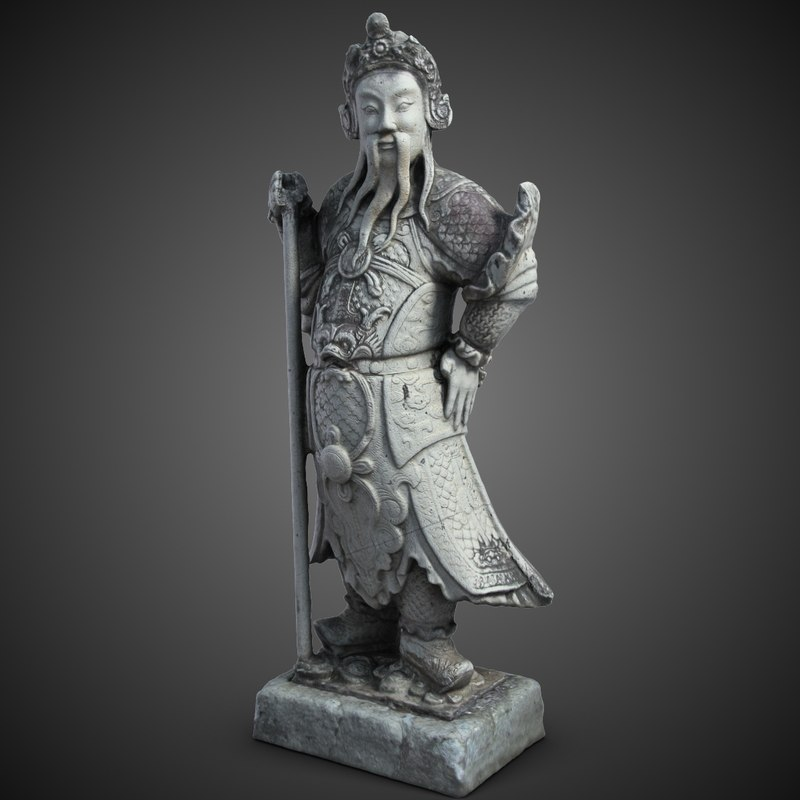 3dsmax thailand statuette guardian sculpture