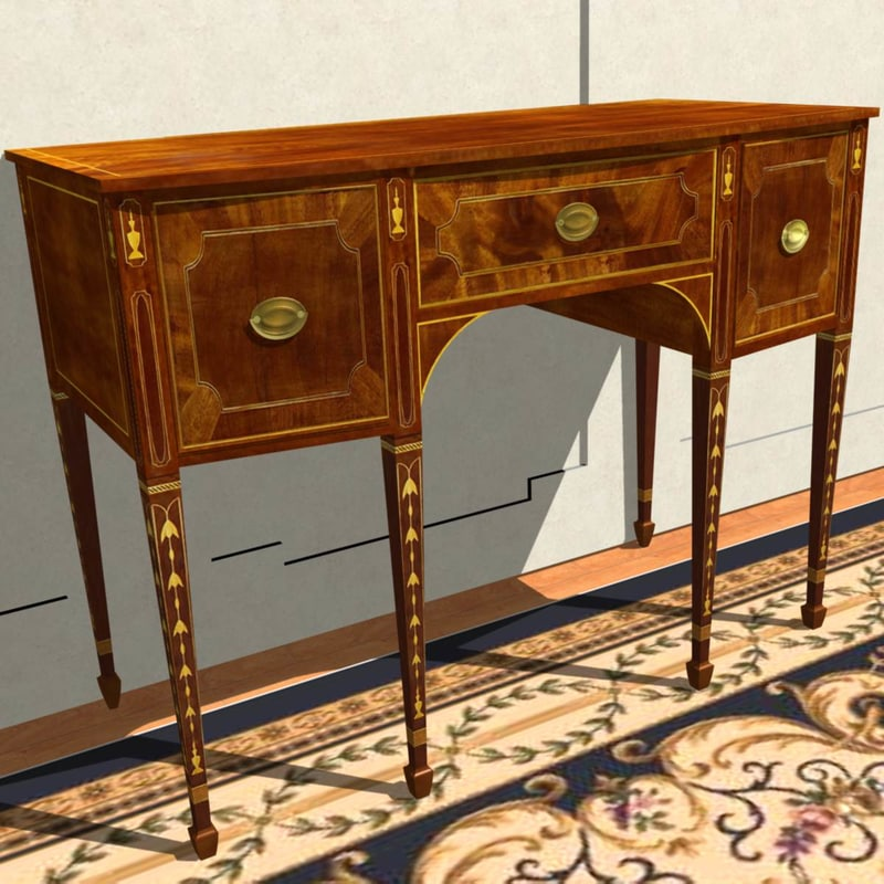 federal sideboard hepplewhite