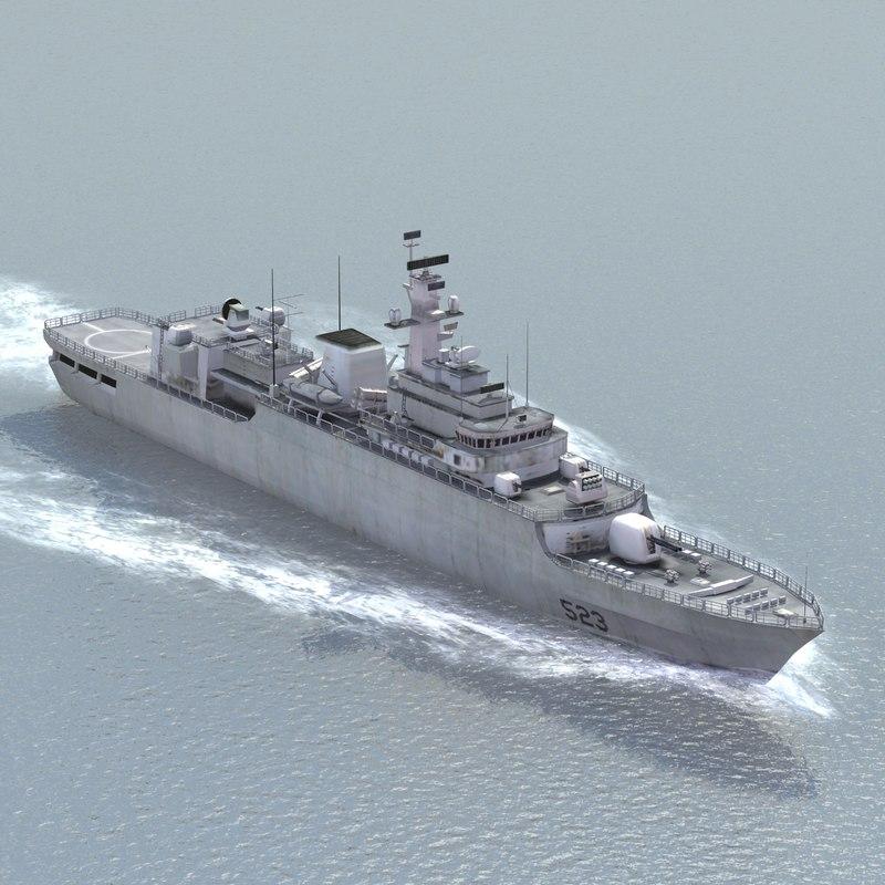 3d chinese navy warship jiangwei model