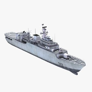 3d chinese navy warship jiangwei model