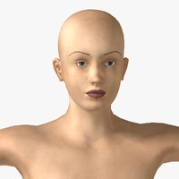 pretty woman athlete realistic female obj