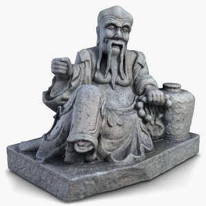 thailand oldman sculpture 3ds