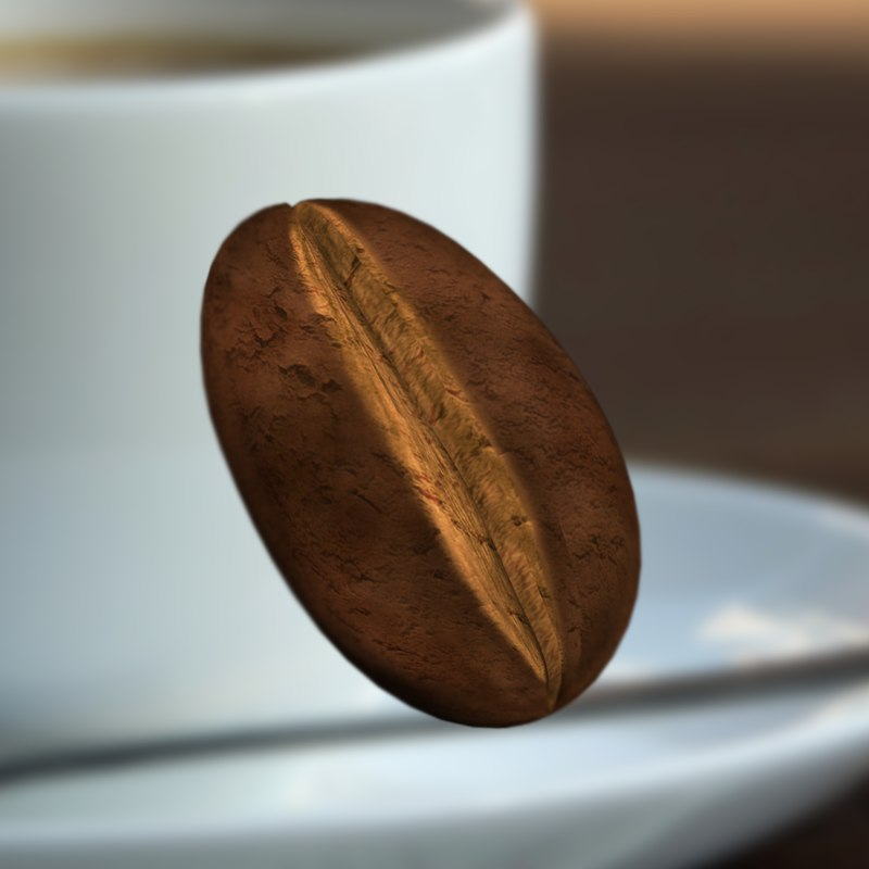 coffee bean c4d