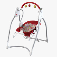 baby swing bouncer 3d 3ds