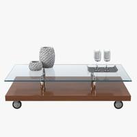 3dsmax cattelan italia parsifal table
