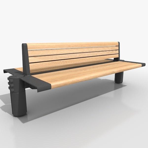 3dsmax street bench