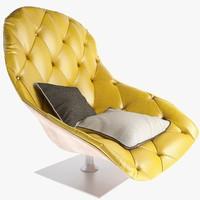moroso bohemian armchair 3ds