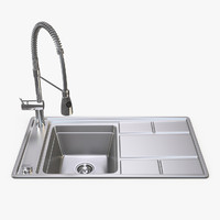 Metal Sink with Spring Faucet