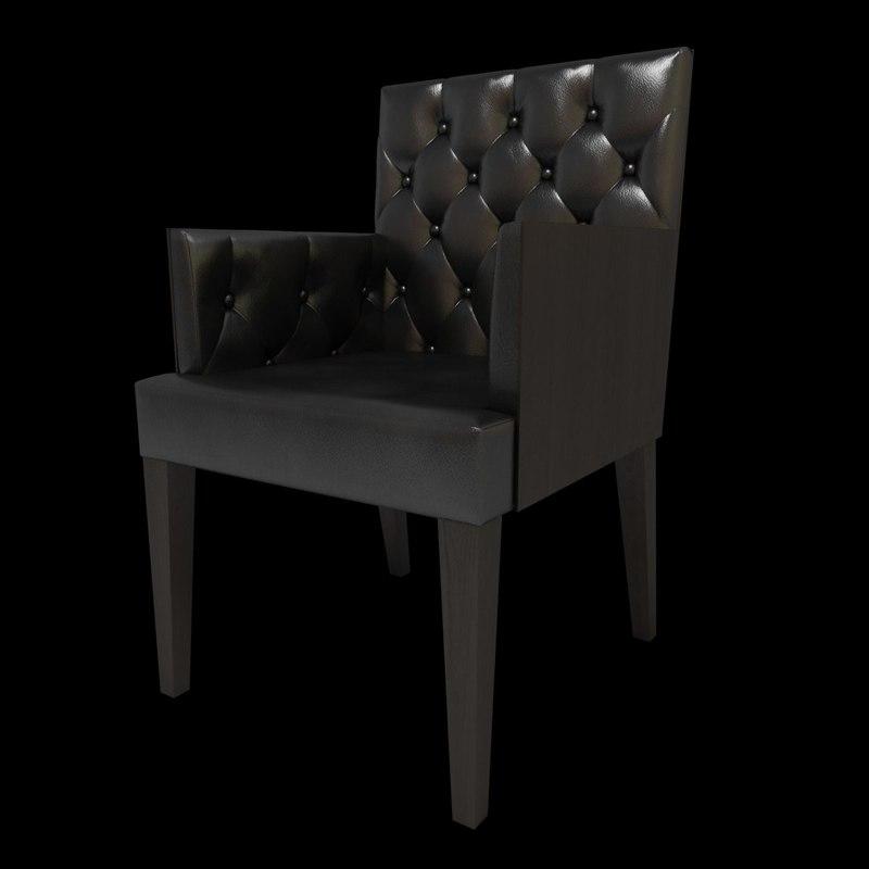 3d chesterfield armchair