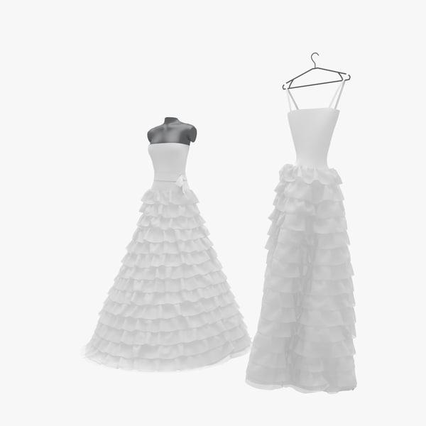 3ds max wedding dress