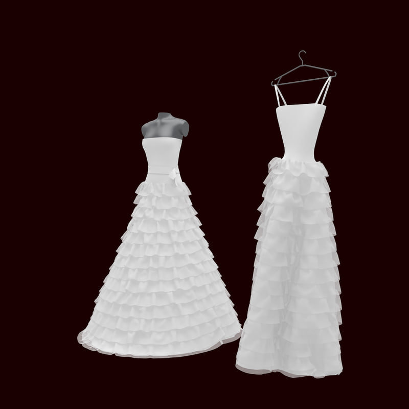 3ds max wedding dress