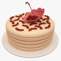 3d umbrella cake model