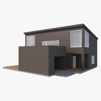 3d model realistic house strak nb