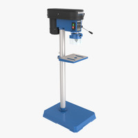 3d model workshop pillar drill