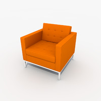 3d florence knoll lounge chair model