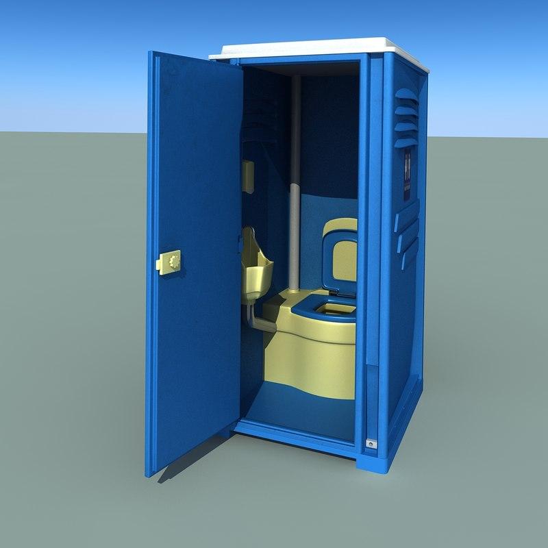 realistic toilet 3d model