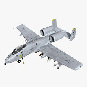 3d a-10c fighter model