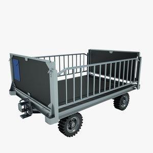 3dsmax baggage cart airport