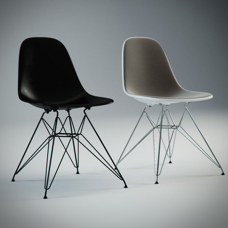 charles eames plastic chair 3d max