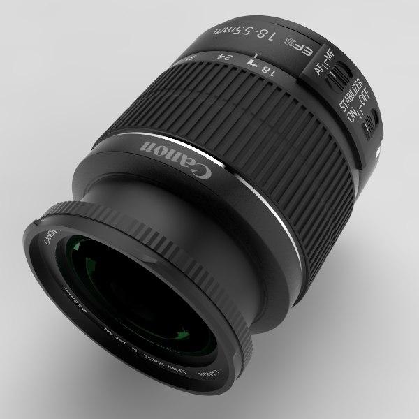 canon ef-s 18-55mm lens c4d