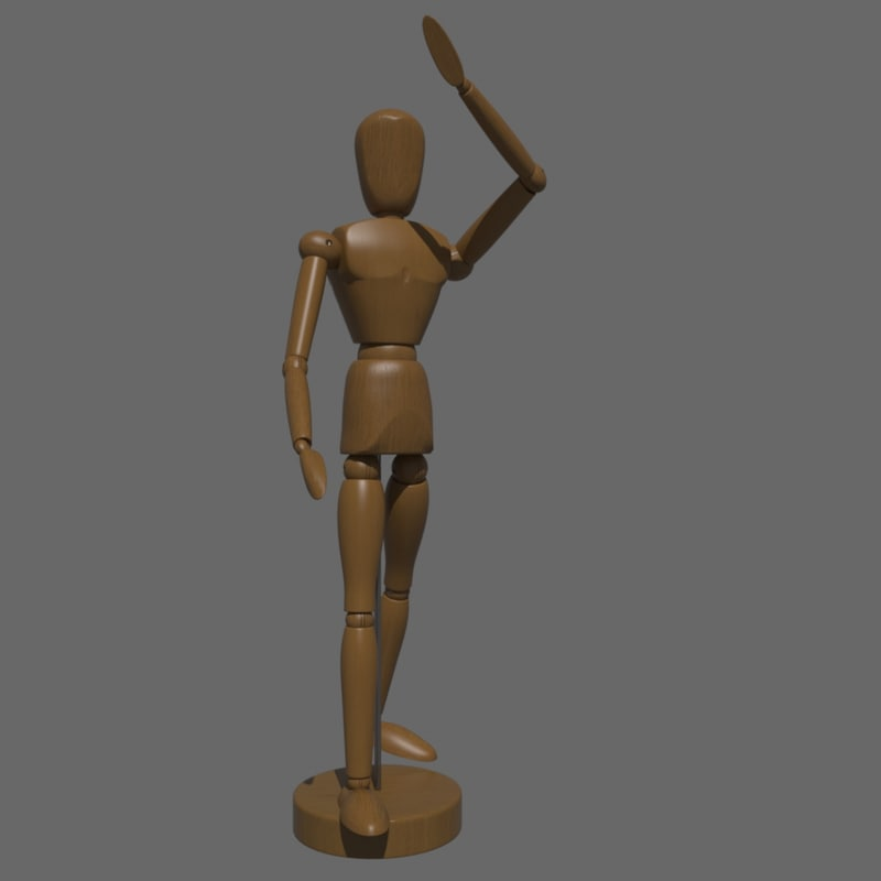3d artist s figure model