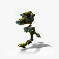 3d model maintenance robot rigged animations