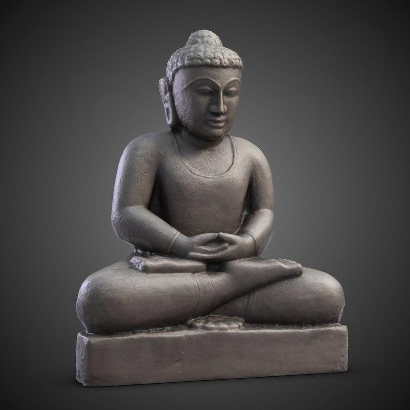 3d obj indian statuette india