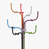 3d model fritz hansen coat tree