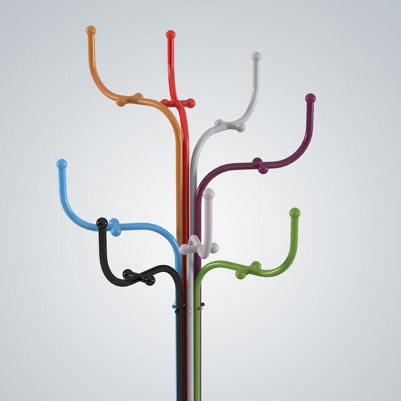 3d model fritz hansen coat tree