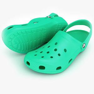 3d crocs shoes sandals clogs model