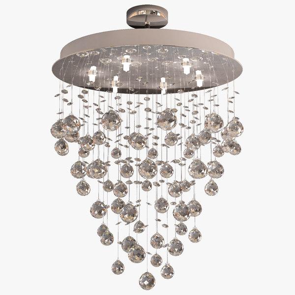 3d crystal chandelier waterfall