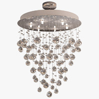 3d crystal chandelier waterfall