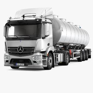 3d model antos tank trailer