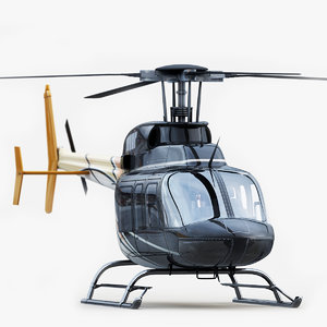 bell 407 helicopter 3d 3ds
