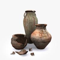 3d broken pots