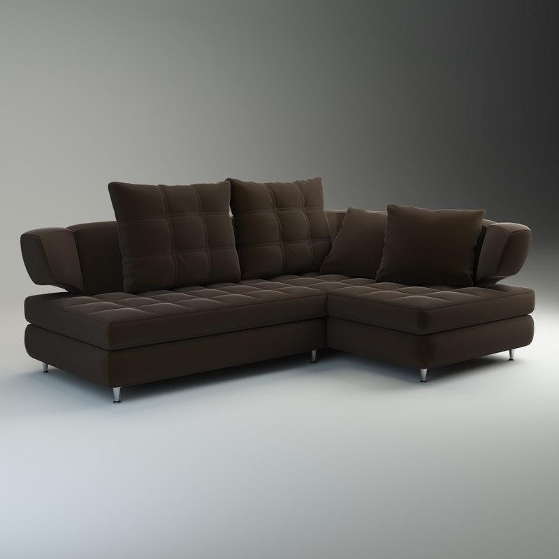 3d model sofa nikol