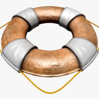 3d model ring buoy