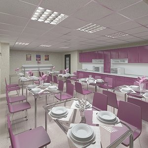 3ds max office cafe