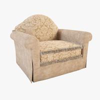 3d armchair capriccio model