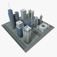city block 3d c4d
