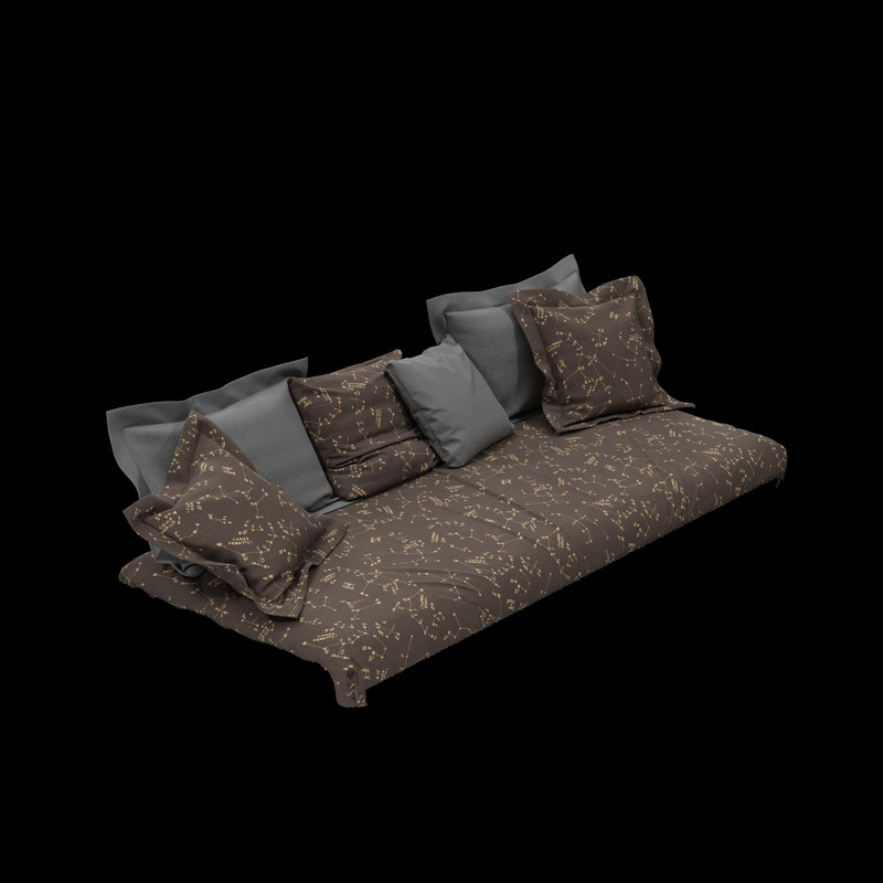high-quality s bed sofa 3d max