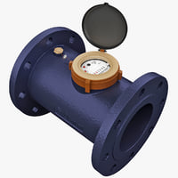 3d industrial water meter model