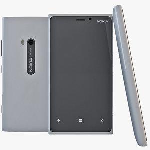 gray nokia lumia 920 3d model