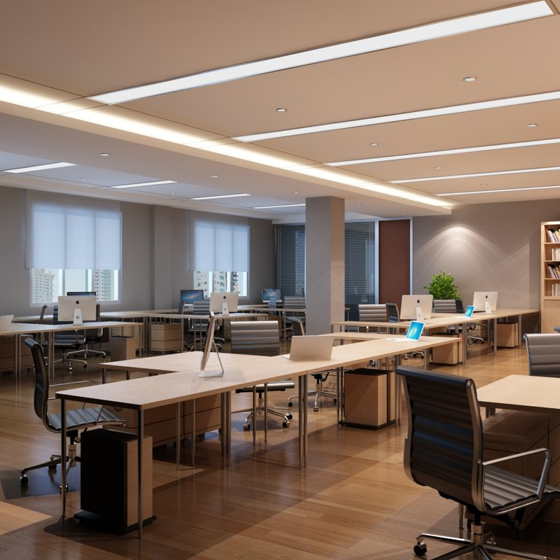 Opens interior 3d model for Office table 3d design